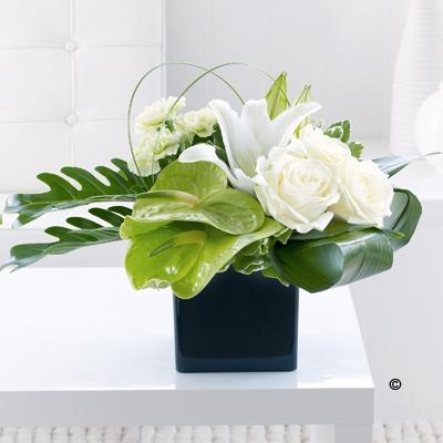Anthurium, Lily and Rose Arrangement *