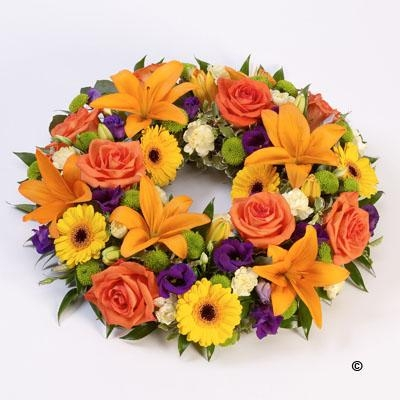 Rose and Lily Wreath   Vibrant *