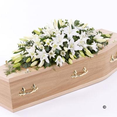 Lily Casket Spray   White *